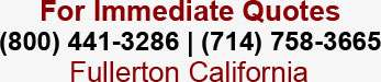 Call (800) 441-3286, (714) 758-3665