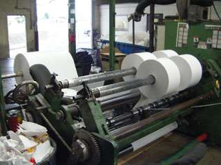 Dusenbury Slitter Sticker Making Machine
